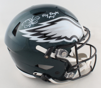 """Jalen Hurts Signed Eagles Authentic On-Field Full-Size SpeedFlex Helmet Inscribed """"Fly Eagles Fly"""" (PSA COA) at PristineAuction.com"""
