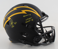 """Antonio Gates Signed Chargers Full-Size Eclipse Alternate Speed Helmet Inscribed """"Forever A Charger"""" & """"2003-18"""" (Beckett COA) at PristineAuction.com"""