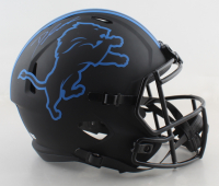 D'Andre Swift Signed Lions Full-Size Eclipse Alternate Speed Helmet (Fanatics Hologram) at PristineAuction.com