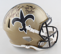 """Bobby Hebert Signed Saints Full-Size Speed Helmet Inscribed """"Cajun Cannon"""" & """"Who Dat Nation"""" (Beckett Hologram) at PristineAuction.com"""
