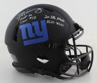 "Eli Manning Signed Giants Full-Size Authentic On-Field Eclipse Alternate Speed Helmet Inscribed ""Last to Wear #10"" & ""2x SB MVP XLII - XLVI"" (Fanatics Hologram) at PristineAuction.com"