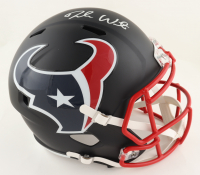 Deshaun Watson Signed Texans Full-Size Matte Black Speed Helmet (Beckett COA) at PristineAuction.com