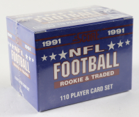 1991 Score NFL Football Rookie and Traded Complete Set of (110) Football Cards at PristineAuction.com