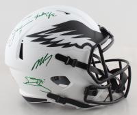 Eagles Full-Size Lunar Eclipse Alternate Speed Helmet Signed by (4) with Donavan McNabb, Randall Cunningham, Ron Jaworski & Michael Vick (JSA COA) at PristineAuction.com