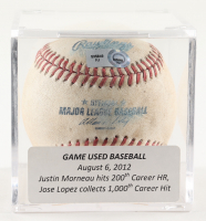 Game-Used OML Baseball With Display Case (MLB Hologram) at PristineAuction.com