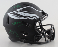 Eagles Full-Size Eclipse Alternate Speed Helmet Signed by (4) with Donavan McNabb, Randall Cunningham, Ron Jaworski & Michael Vick (JSA COA) at PristineAuction.com
