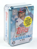 2021 Topps Series 1 Baseball Collectible Tin with (75) Cards at PristineAuction.com