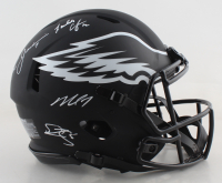 Eagles Full-Size Authentic On-Field Eclipse Alternate Speed Helmet Signed by (4) with Donavan McNabb, Randall Cunningham, Ron Jaworski & Michael Vick (JSA COA) at PristineAuction.com