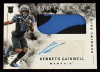Kenneth Gainwell 2021 Panini Chronicles Draft Picks Origins Rookie Jumbo Patch Autographs #16 #76/99 at PristineAuction.com