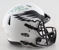 "Nick Foles Signed Eagles Full-Size Authentic On-Field Lunar Eclipse Alternate Speed Helmet Inscribed ""SB LII MVP"" (Fanatics Hologram) at PristineAuction.com"