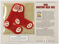 1932 Red Sox Commemorative 9x12 Custom Highlight Card with Vintage Patch at PristineAuction.com