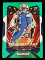 Zach Wilson 2021 Panini Prizm Draft Picks Prizms Green #182 AA at PristineAuction.com