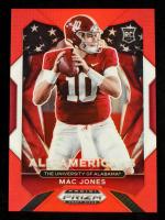 Mac Jones 2021 Panini Prizm Draft Picks Prizms Red #183 AA #245/299 at PristineAuction.com