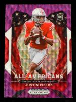 Justin Fields 2021 Panini Prizm Draft Picks Prizms Purple Wave #192 AA at PristineAuction.com