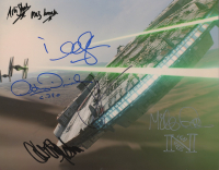 """""""Star Wars"""" 8x10 Photo Cast-Signed by (6) with Carrie Fisher, Anthony Daniels, J.J. Abrams, Mike Quinn (AutographCOA COA) at PristineAuction.com"""