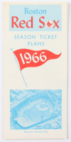 1966 Red Sox Season Tickets Brochure at PristineAuction.com