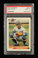 Mike Piazza 1992 Bowman #461 RC (PSA 9) at PristineAuction.com