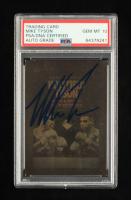 Mike Tyson Signed Evander Holyfield / Mike Tyson 1992 Kayo Holograms #10 (PSA Encapsulated) at PristineAuction.com