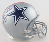 """Drew Pearson Signed Cowboys Full-Size Custom Throwback Helmet Inscribed """"SBXII Champs"""" & """"America's Team"""" (Beckett COA) at PristineAuction.com"""