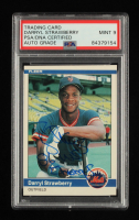 """Darryl Strawberry Signed 1984 Fleer #599 RC Inscribed """"86 WS Champs"""" (PSA Encapsulated) at PristineAuction.com"""