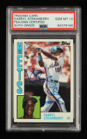 """Darryl Strawberry Signed 1984 Topps #182 RC Inscribed """"86 WS Champs"""" (PSA Encapsulated) at PristineAuction.com"""