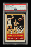 Jerry West Signed 1973-74 Topps #100 All-Star 1 (PSA Encapsulated) at PristineAuction.com
