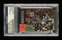 Walter Payton Signed Bears 1995 Super Bowl XX Champions 10th Anniversary Calling Card #15,753/25,000 (PSA Encapsulated) at PristineAuction.com