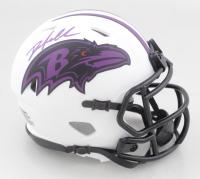 Odafe Oweh Signed Ravens Lunar Eclipse Alternate Speed Mini Helmet (JSA COA) at PristineAuction.com