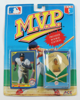 Bernie Williams 1990 MLB Collector Pin Series M.V.P. Premier Rookie Edition with Card at PristineAuction.com