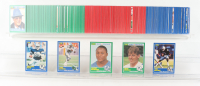 1989 Score Complete Set of (330) Football Cards with #257 Barry Sanders RC, #270 Troy Aikman RC, #72 Cris Carter RC, #86 Tim Brown RC, #18 Michael Irvin RC at PristineAuction.com