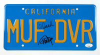 """Cheech Marin & Tommy Chong Signed """"Up in Smoke"""" License Plate (JSA COA) at PristineAuction.com"""