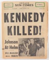 "Original November 23rd, 1963 Chicago Sun-Times Newspaper ""Kennedy Killed!"" (See Description) at PristineAuction.com"