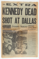 """Original November 22nd, 1963 5th Extra Newspaper """"Kennedy Dead Shot At Dallas"""" (See Description) at PristineAuction.com"""