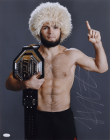Khabib Nurmagomedov Signed UFC 16x20 Photo (JSA COA) at PristineAuction.com