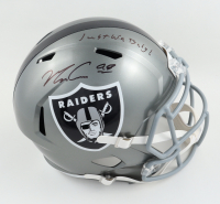 """Maxx Crosby Signed Raiders Full-Size Flash Alternate Speed Helmet Inscribed """"Just Win Baby!"""" (Beckett Hologram) at PristineAuction.com"""