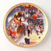 """Michael Jordan LE """"1991 Championship"""" Upper Deck Porcelain Plate at PristineAuction.com"""