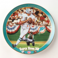 """Bob Griese LE """"Playing To Perfection"""" Upper Deck Porcelain Plate at PristineAuction.com"""