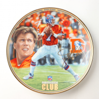 "John Elway LE ""NFL Quarterback Club"" Upper Deck Porcelain Plate at PristineAuction.com"