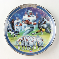 """Troy Aikman LE """"The Game's Greatest"""" Upper Deck Porcelain Plate at PristineAuction.com"""