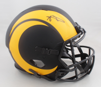 Aaron Donald Signed Rams Full-Size Authentic On-Field Eclipse Alternate Speed Helmet (JSA COA) at PristineAuction.com