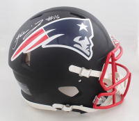 Jakobi Meyers Signed Patriots Full-Size Matte Black Speed Helmet (JSA COA) at PristineAuction.com