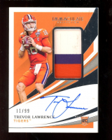 Trevor Lawrence 2021 Immaculate Collection Collegiate #51 JSY AU RC #11/99 at PristineAuction.com