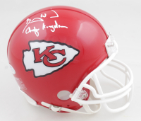 "Barry Word Signed Chiefs Mini Helmet Inscribed ""Chiefs Kingdom"" (PSA COA) at PristineAuction.com"