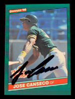 Jose Canseco Signed 1986 Donruss Rookies #22 RC (Beckett Hologram) at PristineAuction.com