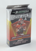 2021 Panini Prizm Draft Picks Football Hanger Box with (20) Cards at PristineAuction.com