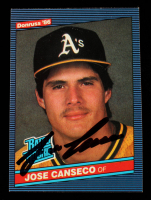 Jose Canseco Signed 1986 Donruss Rated Rookie #39 RC (Beckett Hologram) at PristineAuction.com