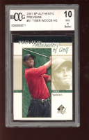 Tiger Woods 2001 SP Authentic Preview #51 AG (BCCG 10) at PristineAuction.com