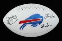 Jim Kelly, Andre Reed & Thurman Thomas Signed Bills Logo Football (JSA COA) at PristineAuction.com