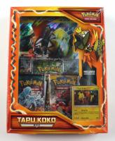 Pokemon TCG: Tapu Koko Box with (3) Packs at PristineAuction.com