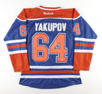 Nail Yakupov Signed Oilers Jersey (Beckett COA) at PristineAuction.com
